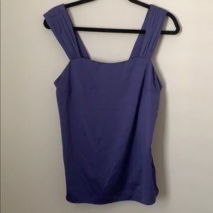 The Limited purple polyester blouse.